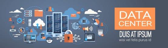 Tecnologia do sincronizar do base de dados de servidor do acolhimento da conexão do computador da nuvem do centro de dados Imagens de Stock