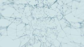 Tecnologia do sumário da fantasia do plexo e fundo da engenharia com movimento orgânico original os feixes contorcem-se Laço sem  ilustração royalty free