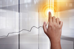 Tecnologia do tela táctil Fotografia de Stock