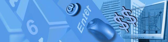 Tecnologia e comércio electrónico Foto de Stock Royalty Free