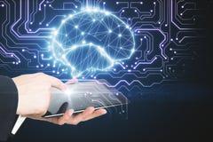 Tecnologia e conceito do AI foto de stock