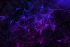 Tecnologia e concetto del Cyberspace illustrazione di stock