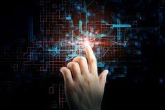 Tecnologia e concetto digitale Fotografie Stock