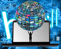 Tecnologia e humanidade Fotos de Stock