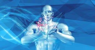 Tecnologia e inovação disruptivas no novo mercado ilustração stock