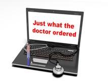A tecnologia e a medicina, 3d rendem Fotografia de Stock