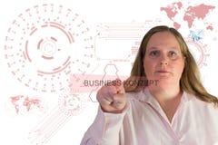 Tecnologia e mulher de negócios Fotografia de Stock