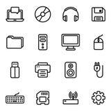 Tecnologia ed icona dei computer Immagini Stock Libere da Diritti