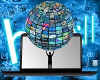 Tecnologia ed umanità illustrazione di stock