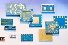 Tecnologia eletrônica do transistor do filme fino e grosso foto de stock