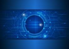 Tecnologia eletrônica da placa futura abstrata do digital-circuito ilustração stock