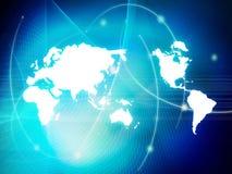 Tecnologia-estilo do mapa de mundo Fotografia de Stock Royalty Free