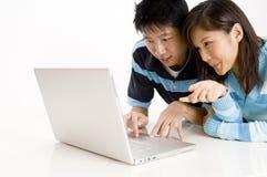 Tecnologia felice Fotografia Stock