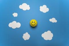 Tecnologia felice della nuvola Immagini Stock Libere da Diritti
