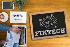 Tecnologia financeira do Internet do investimento de FINTECH fotografia de stock royalty free