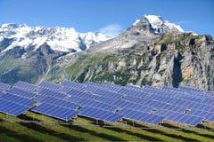 Tecnologia fotovoltaica Immagini Stock