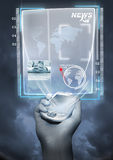 Tecnologia futura Imagens de Stock Royalty Free