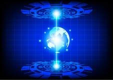 Tecnologia futura astratta del mondo di vettore Immagine Stock Libera da Diritti