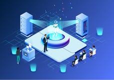 Tecnologia futura da ilustração da inteligência artificial ilustração do vetor