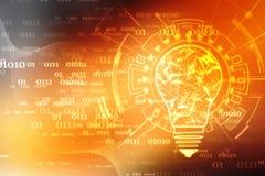 Tecnologia futura della lampadina, fondo dell'innovazione, concetto creativo di idea royalty illustrazione gratis
