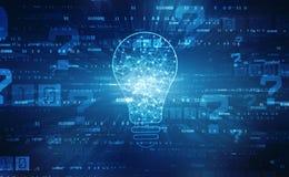 Tecnologia futura della lampadina, fondo dell'innovazione, concetto creativo di idea fotografie stock libere da diritti
