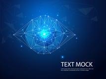 Tecnologia futura, fundo do conceito da segurança do cyber dos olhos azuis, Internet digital da velocidade do sumário olá! Borrão ilustração royalty free