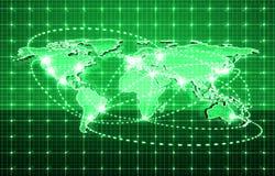 Tecnologia futura global Foto de Stock Royalty Free