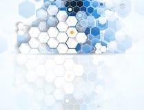 Tecnologia futura scientifica Per la presentazione di affari Aletta di filatoio, Fotografia Stock