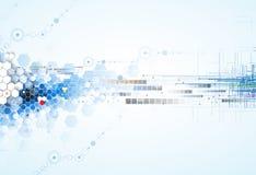 Tecnologia futura scientifica Per la presentazione di affari Aletta di filatoio, Immagine Stock Libera da Diritti