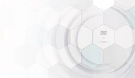 Tecnologia futura scientifica Per la presentazione di affari Aletta di filatoio, illustrazione di stock