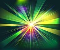 Tecnologia futurista da explosão colorida dos raios ilustração do vetor