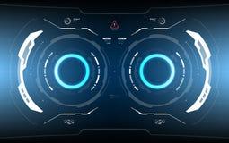 Tecnologia futurista HUD Screen da ficção científica Fotos de Stock
