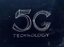 tecnologia 5G scritta a mano sulla lavagna Fotografie Stock Libere da Diritti