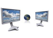 Tecnologia global Foto de Stock Royalty Free