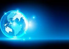 Tecnologia global abstrata, fundo abstrato Illustra Imagem de Stock Royalty Free