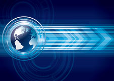 Tecnologia global da terra de AAbstract Imagens de Stock Royalty Free