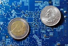 Tecnologia globale di finanze Fotografia Stock Libera da Diritti