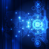 Tecnologia globale digitale di vettore, fondo astratto Immagini Stock