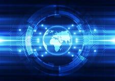 Tecnologia globale digitale di vettore, fondo astratto Fotografia Stock Libera da Diritti