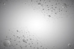 tecnologia Gray Background do vetor do sumário 3d Imagem de Stock