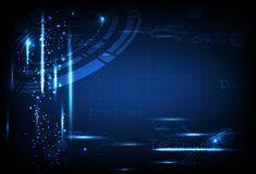 Tecnologia, ilustração azul do vetor do fundo do sumário do conceito dos dados futuristas do circuito ilustração do vetor