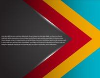 A tecnologia incorporada preta e vermelha listrou o projeto gráfico Linhas de incandescência Tema colorido Imagem de Stock Royalty Free