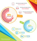 Tecnologia Infographic ilustração stock