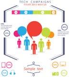 Tecnologia Infographic della gente Fotografie Stock
