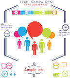 Tecnologia Infographic dos povos Fotos de Stock