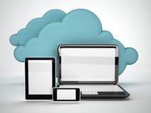 Tecnologia informática da nuvem Imagem de Stock