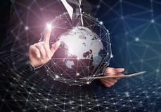 Tecnologia inovativa Conceito global das conexões Foto de Stock Royalty Free