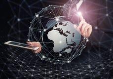 Tecnologia inovativa Conceito global das conexões Fotografia de Stock Royalty Free