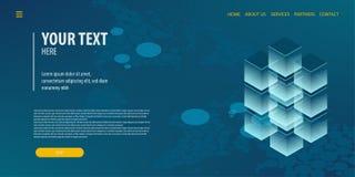 Tecnologia isométrica da conexão de dados Imagem de Stock Royalty Free