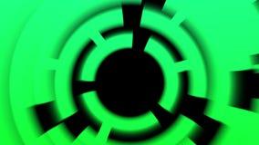 a tecnologia 4k de giro escava um túnel a entrada, canal leve do círculo, soundwave acústico ilustração stock